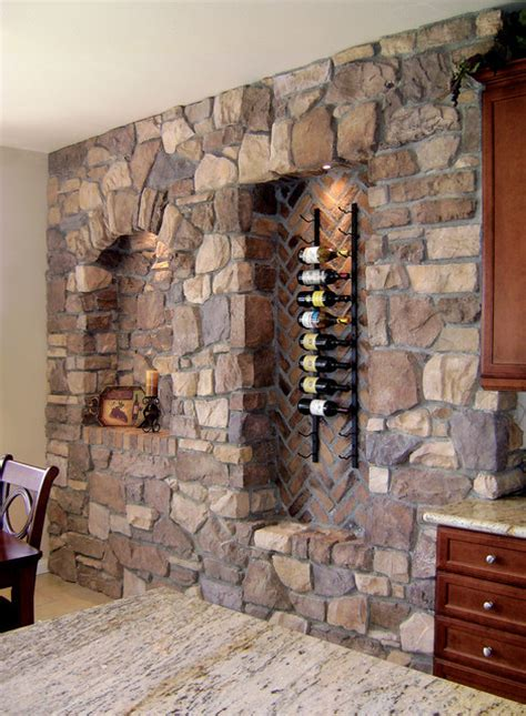 Houzz Basement Ideas by Italian Villa Stone Wine Wall Coronado Stone Veneer