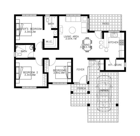 house design floor plan philippines 40 small house images designs with free floor plans lay