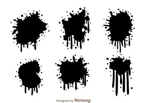 spray paint vector black spraypaint drip free vector stock