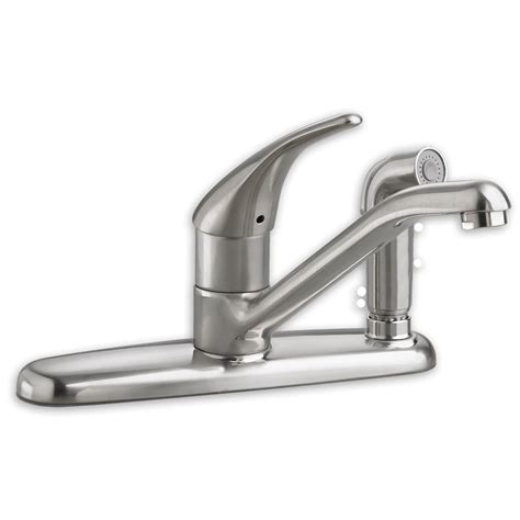 pictures of kitchen faucets american standard colony soft 1 handle kitchen faucet with side spray allied plumbing