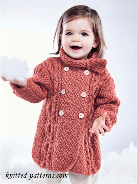 knitted coat patterns for free craft passions s cable coat free knitting link here