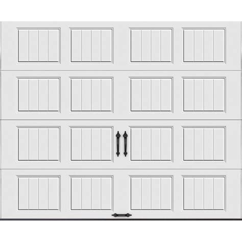 home depot overhead doors clopay gallery collection 9 ft x 7 ft 18 4 r value
