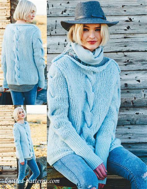 free womens knitting patterns jumpers sweater knitting pattern free