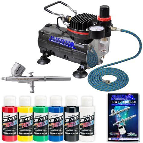 spray painting compressor master airbrush gravity dual set air compressor
