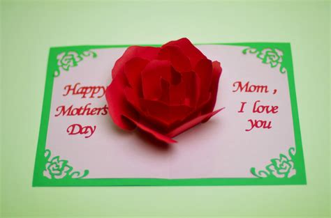 how to make 3d mothers day cards flower pop up card template creative pop up cards