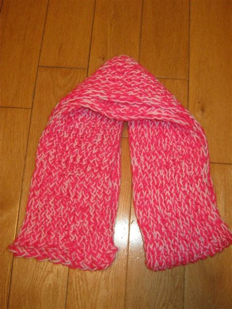 easy loom knitting projects loom knitting scarf 183 how to stitch a loom knit scarf