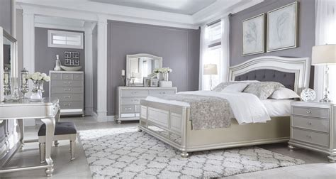 silver bedroom furniture sets coralayne silver bedroom set from b650 157 54 96