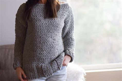 beginner sweater knitting pattern beginner chunky knit sweater pattern allfreeknitting
