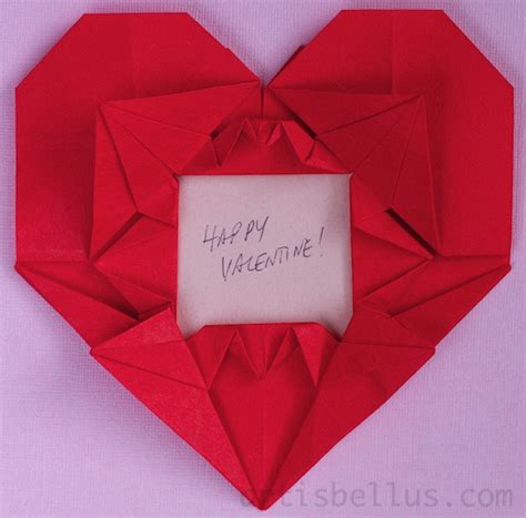 valentines day origami cranes picture frame new origami model for