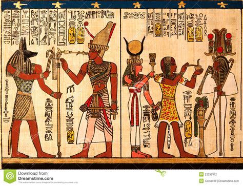 Ancient Egyptian Wall Murals egyptian papyrus stock photography image 22232512