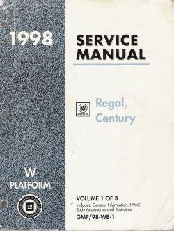 car repair manual download 1998 buick century electronic throttle control 1998 buick regal century service manual 3 volume set