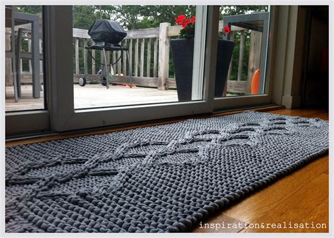 diy knit rug inspiration and realisation diy fashion diy