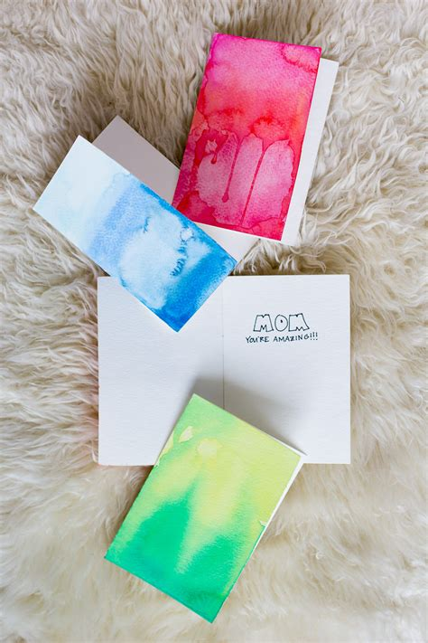 how to make watercolor cards diy watercolor greeting cards wandeleur