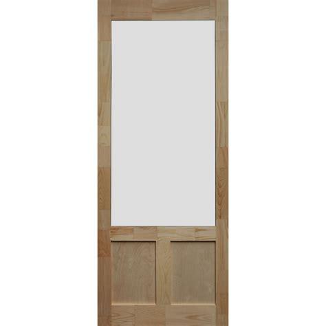 30x80 exterior door bay 30 in x 80 in elmwood pine screen