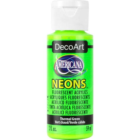 home depot neon paint americana neon lights 2 oz thermal green acrylic paint