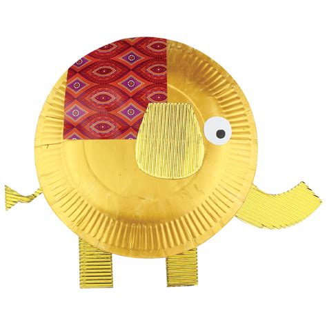 paper elephant craft paper plate elephant cleverpatch