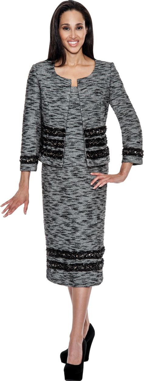 Knit Suits Grey Black Td94512 Not Just Church