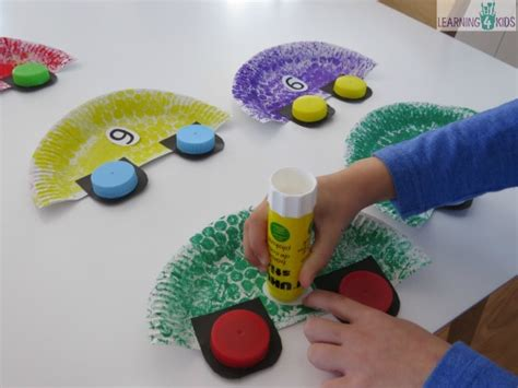 how to make crafts for car craft activity for learning 4