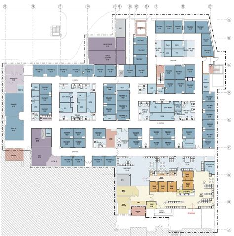emergency room floor plan emergency department master planning array architects