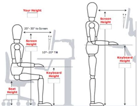 ideal height for computer desk how to ergonomically optimize your workspace