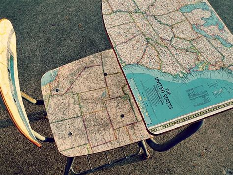 decoupage with maps diy decoupage map desk with minwax topcoat