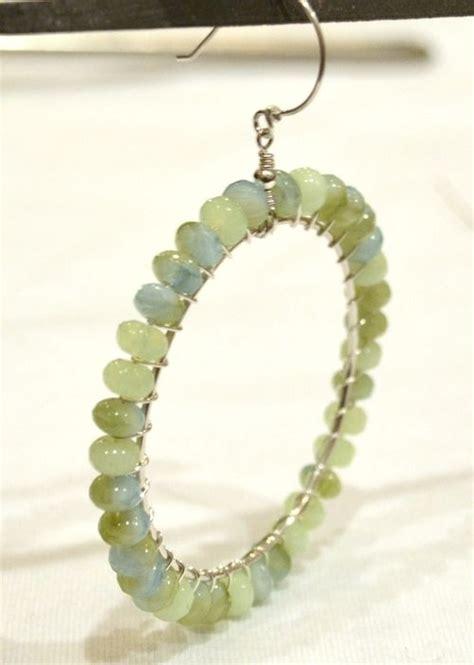 diy beaded hoop earrings beaded hoop earring tutorial jewelry tutorials