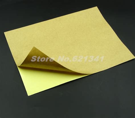 printing on craft paper a4 self adhesive brown kraft printing paper copy sticker