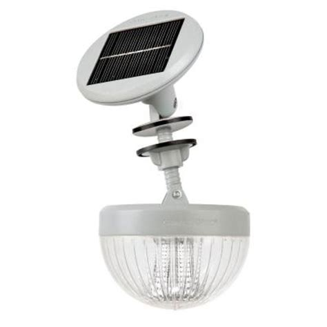 solar light home depot gama sonic crown solar led shed light with adjustable