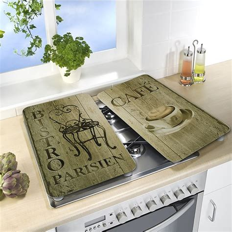 2 couvre plaques protection d 233 coration bistrot wenko protection plaques de cuisson cr 233 dence