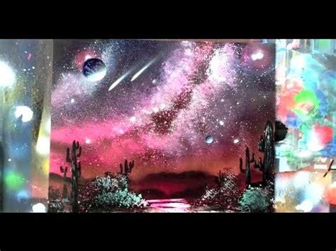 spray paint galaxy tutorial how to spray paint way galaxy waterfall trees