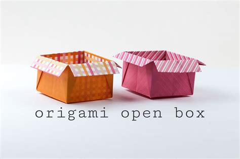 origami in the box origami open box with flaps tutorial