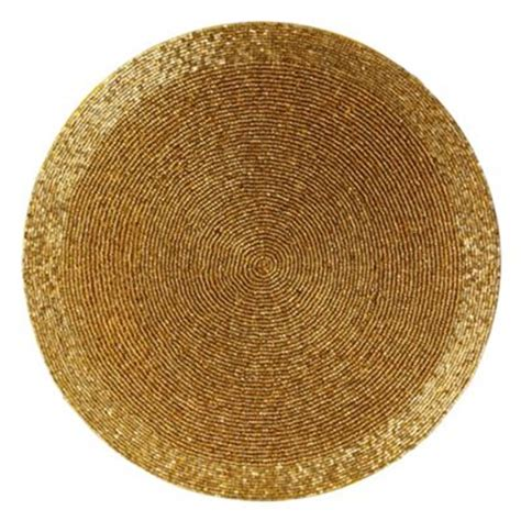 beaded placemats gold beaded placemat