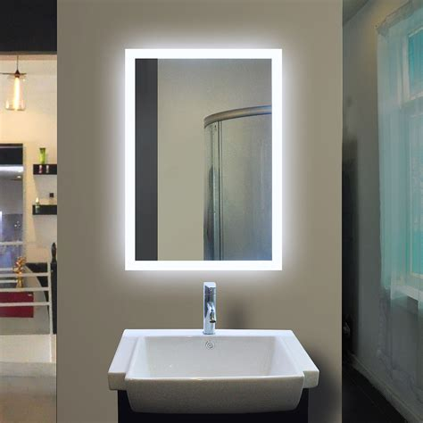 bathroom mirror backlit backlit bathroom mirror rectangle 40 x 24 in by