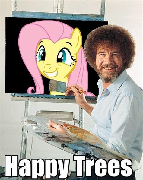 bob ross painting history image 94755 bob ross bob ross is best pony fluttershy
