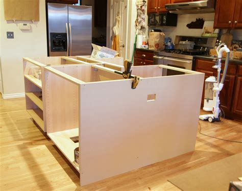 how to install kitchen island cabinets ikea hack how we built our kitchen island jeanne oliver