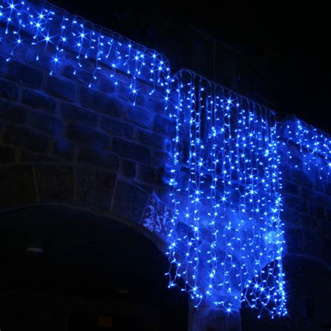 led icicle lights outdoor 100 led blue icicle lights connectable for outdoor use