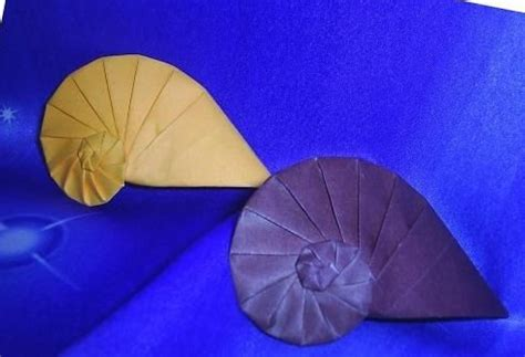 origami conch shell 17 best images about origami on sea shells