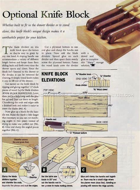 knife block woodworking plans optional knife block plans woodarchivist