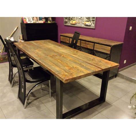 table salle manger industriel