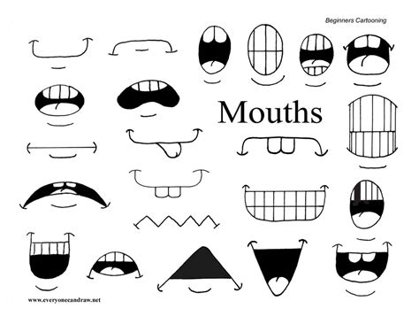 how to draw mouths secondary mouths easiest carving 2 mouths