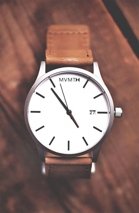 mens leather watches white leather x mvmt watches click the image to purchase the classic collection