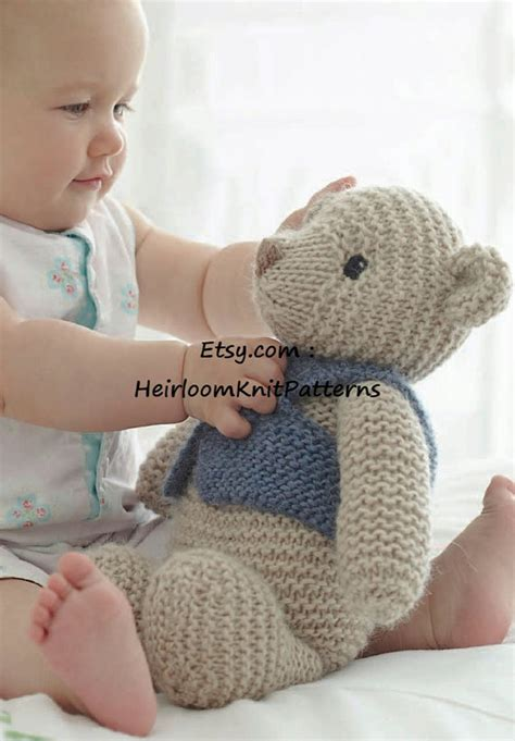teddy knitting pattern uk knitting pattern for classic teddy in chunky bulky