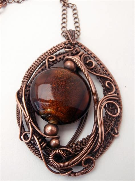 copper wire for jewelry copper wire wrapped pendant necklace handmade jewelry