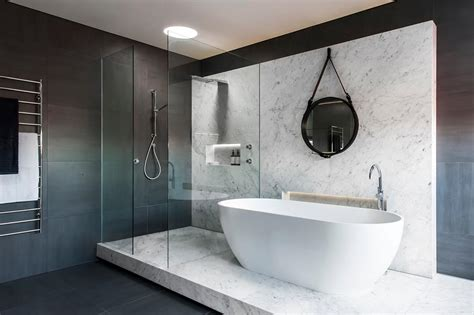 award winning bathroom design award winning monochromatic bathroom by minosa design