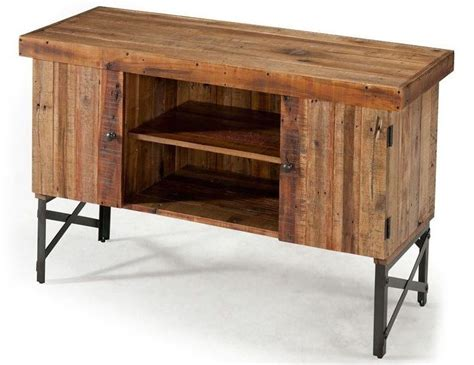 sofa end tables with storage reclaimed wood rustic sofa table accent living room
