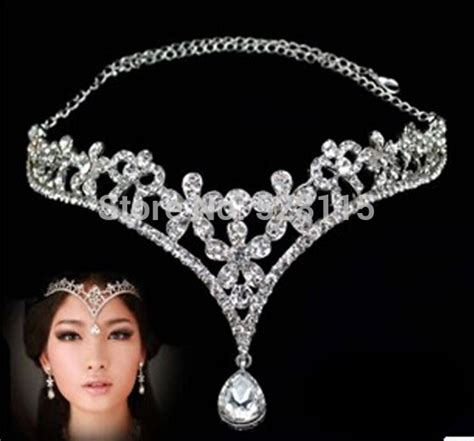 how to make headpiece jewelry 1pcs lot fashion silver rhinestone chain headpiece