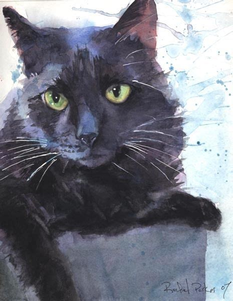 black cat painting step by step giclee print black cat watercolor painting splash pet