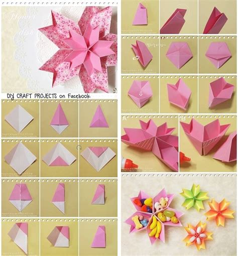 flower from paper craft diy paper flower dish diy tutorial papercraft diy