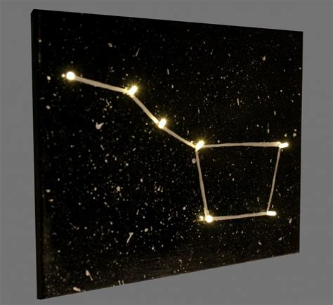 space crafts for to make light up constellation canvas family crafts