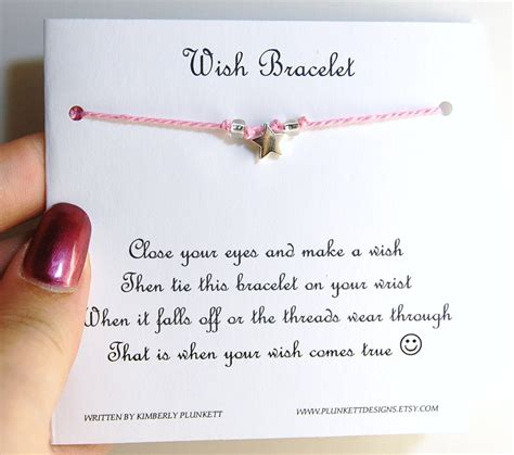 how to make wishing cards make a wish pink wish bracelet